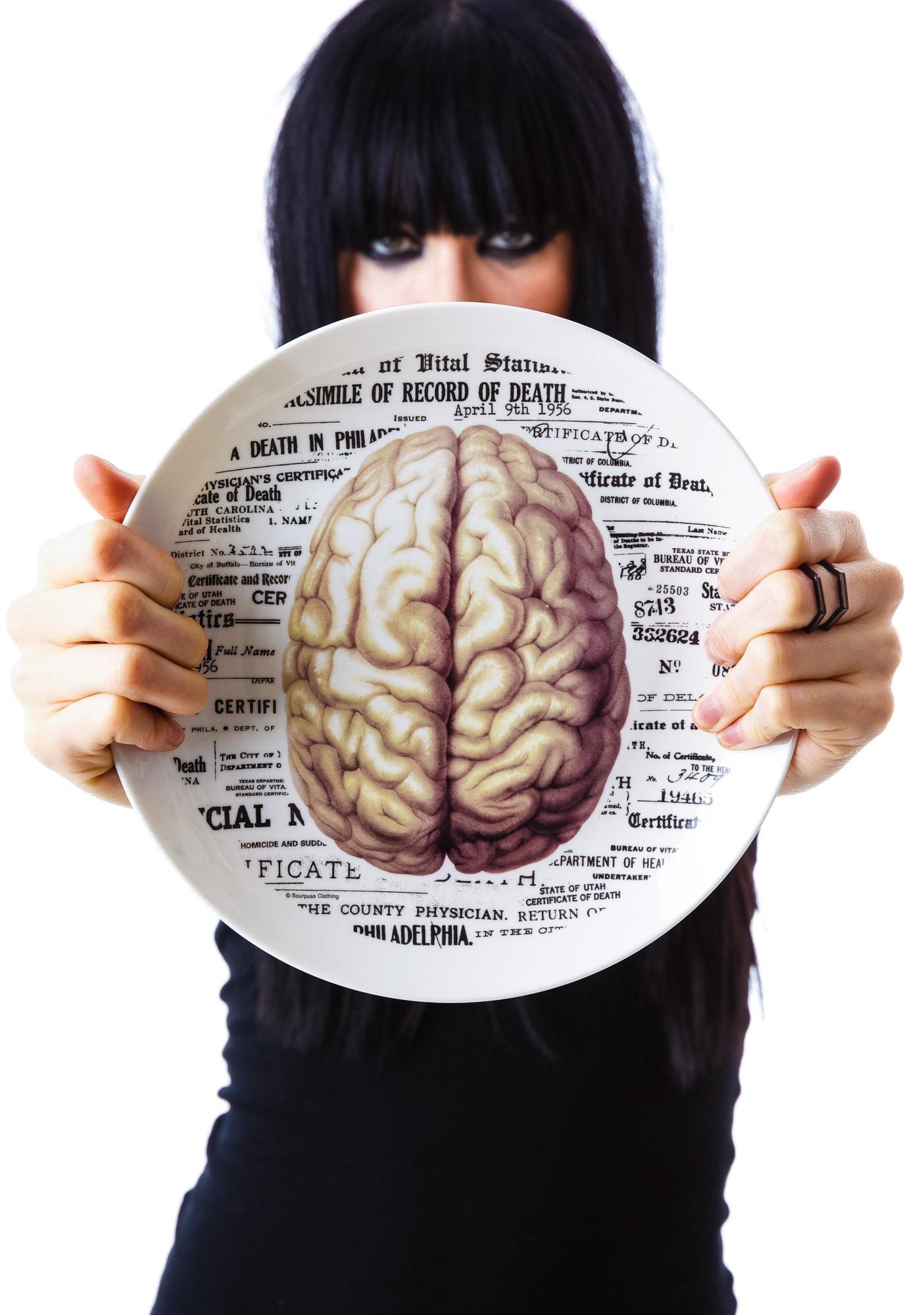 Sourpuss Clothing Brain Plate