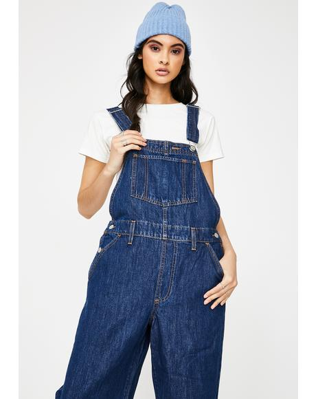 Cut Loose Baggy Overalls