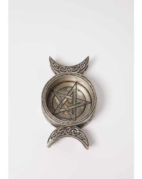 Triple Moon Candle Holder