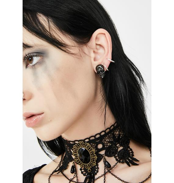 Grim Fate Skull Earrings