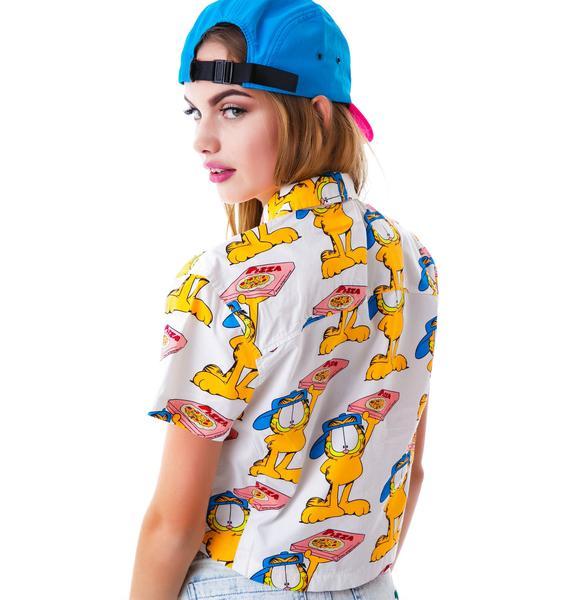 Lazy Oaf x Garfield Pizza Cat Shirt