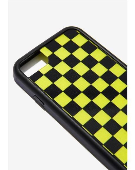 Yellow Checkers iPhone Case