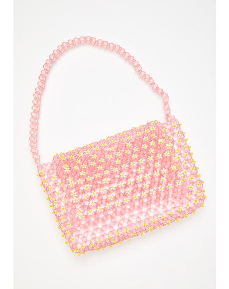 Elda Daisy Beaded Shoulder Bag