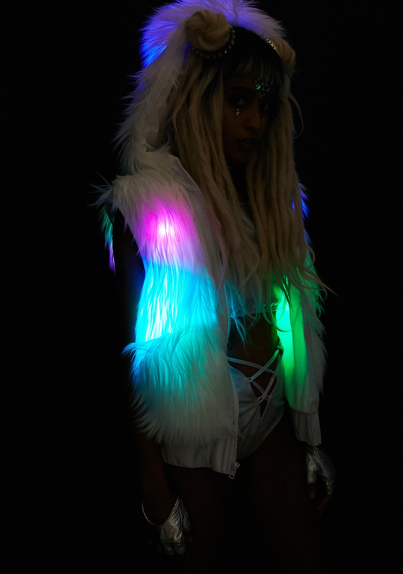 J Valentine Flashing Lights Hooded Vest