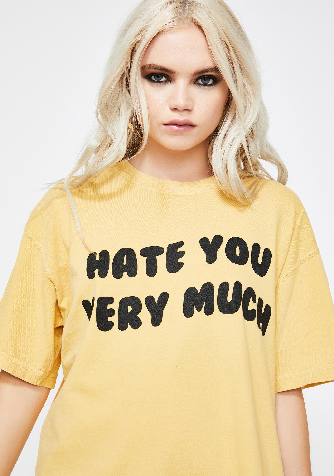 Slushcult Hate You Very Much Graphic Tee
