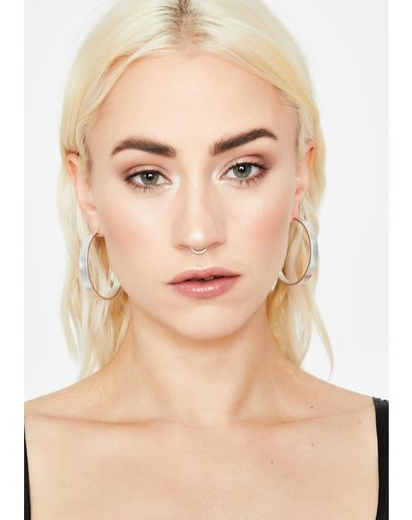 Fame Babe Hoop Earrings