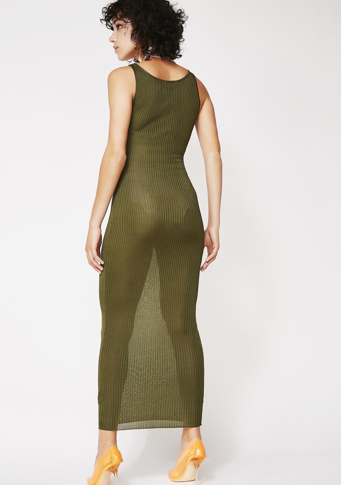 Sheer Mischief Midi Dress