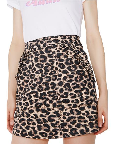 Purrfect Printed Skirt