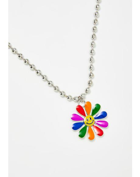 Sweet Smiles Flower Necklace