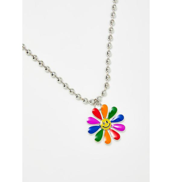 dELiA*s by Dolls Kill Sweet Smiles Flower Necklace