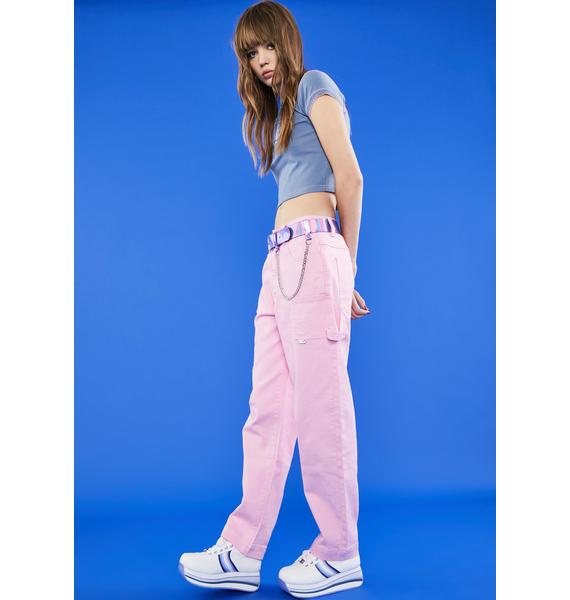 dELiA*s by Dolls Kill Kiss Working Girl Carpenter Pants