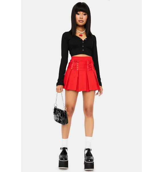 Ruby Modern School Girl Pleated Skort