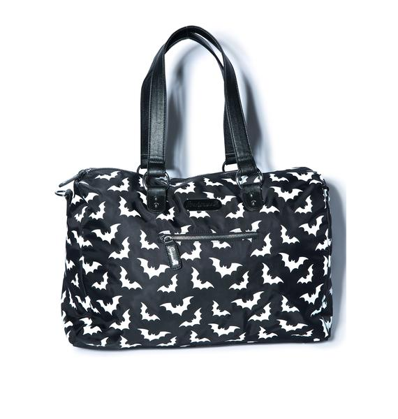 Sourpuss Clothing Spooksville Bats Travel Bag