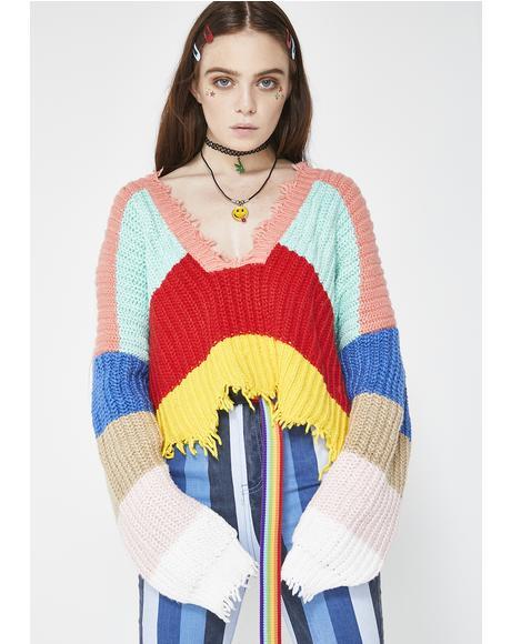 Andros Stripe Palmetto Sweater