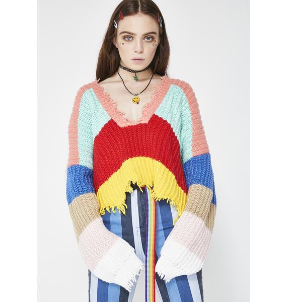 Wildfox Couture Andros Stripe Palmetto Sweater