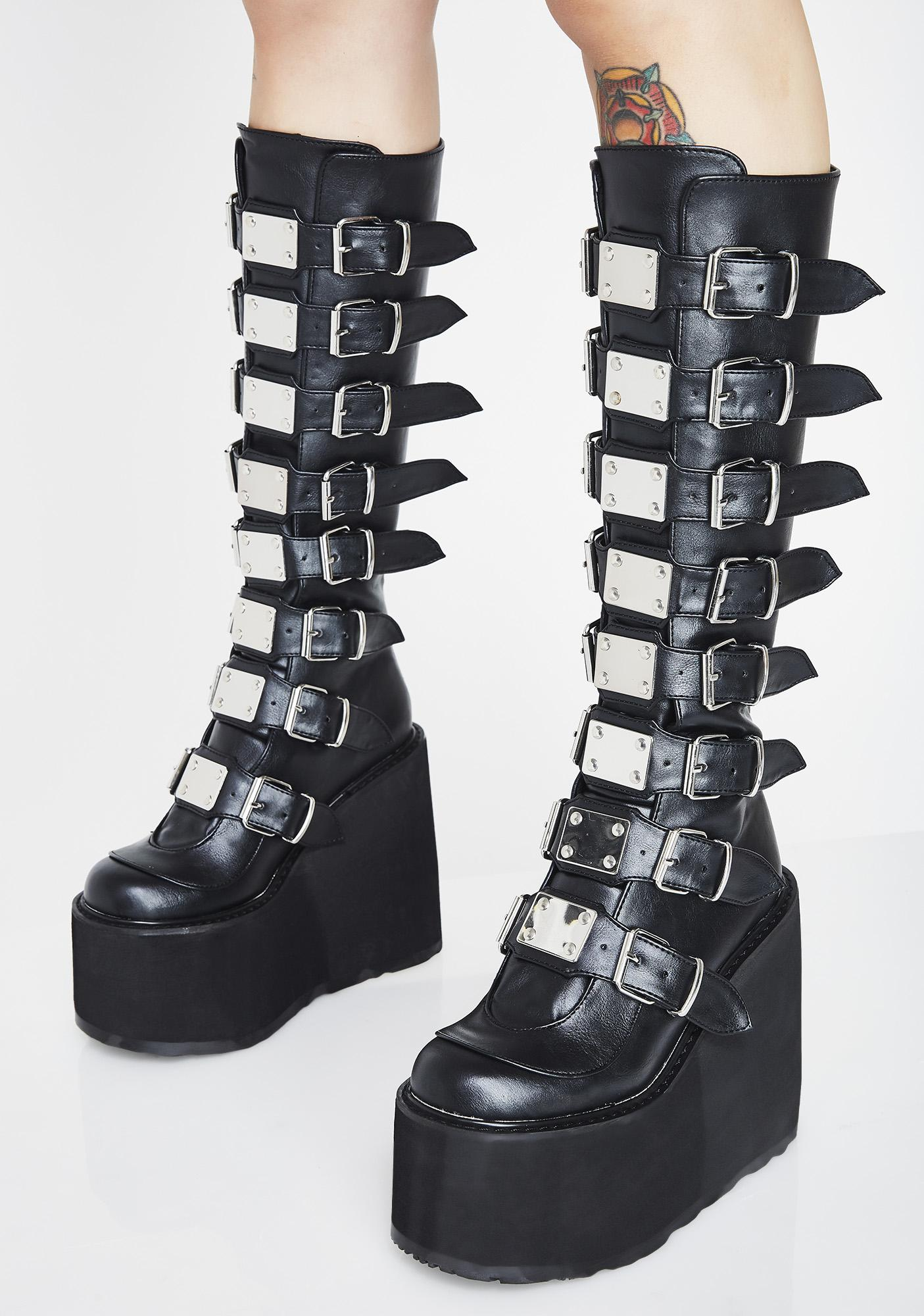 Demonia Trinity Boots Dolls Kill