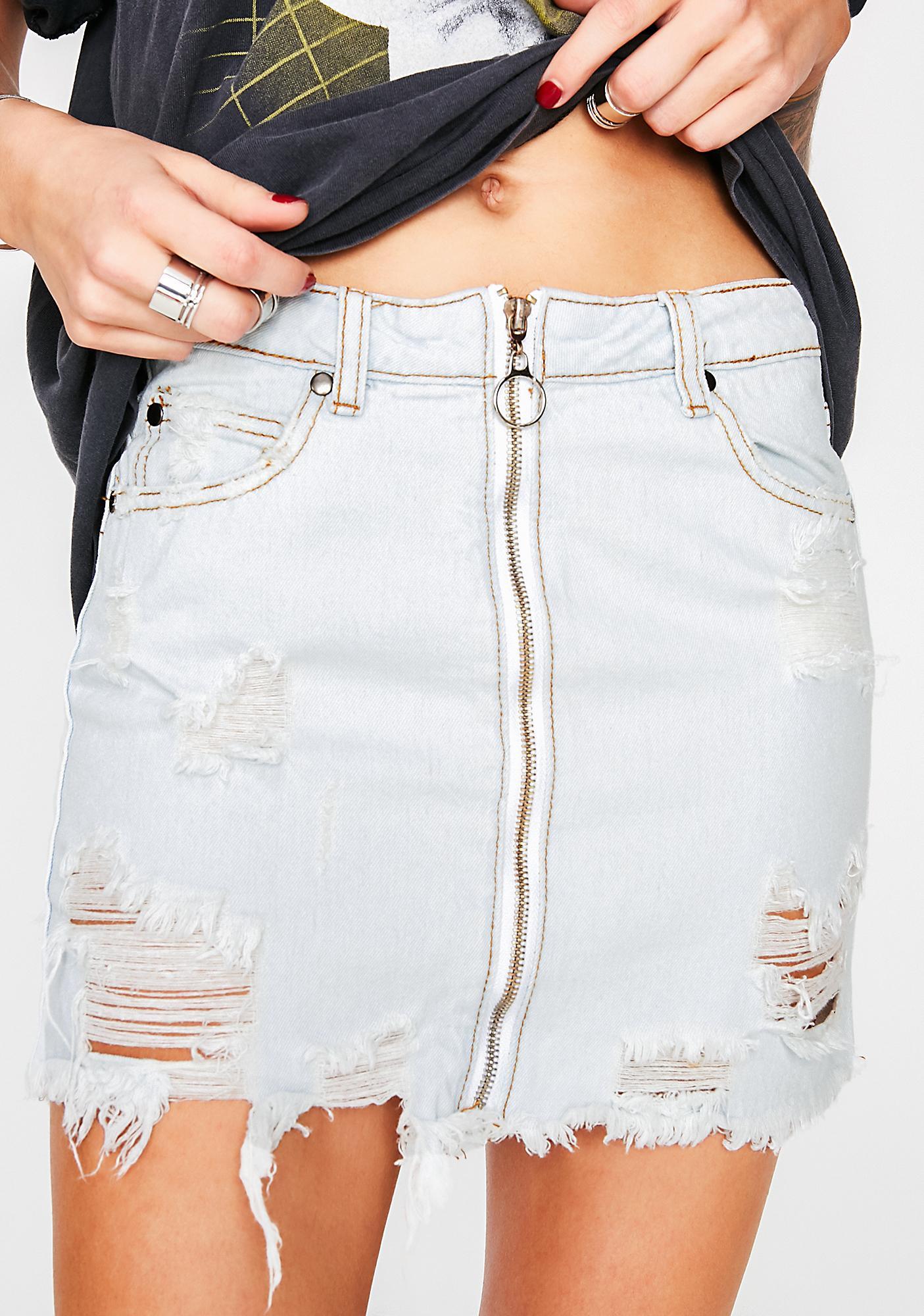 Make It Ring Denim Skirt