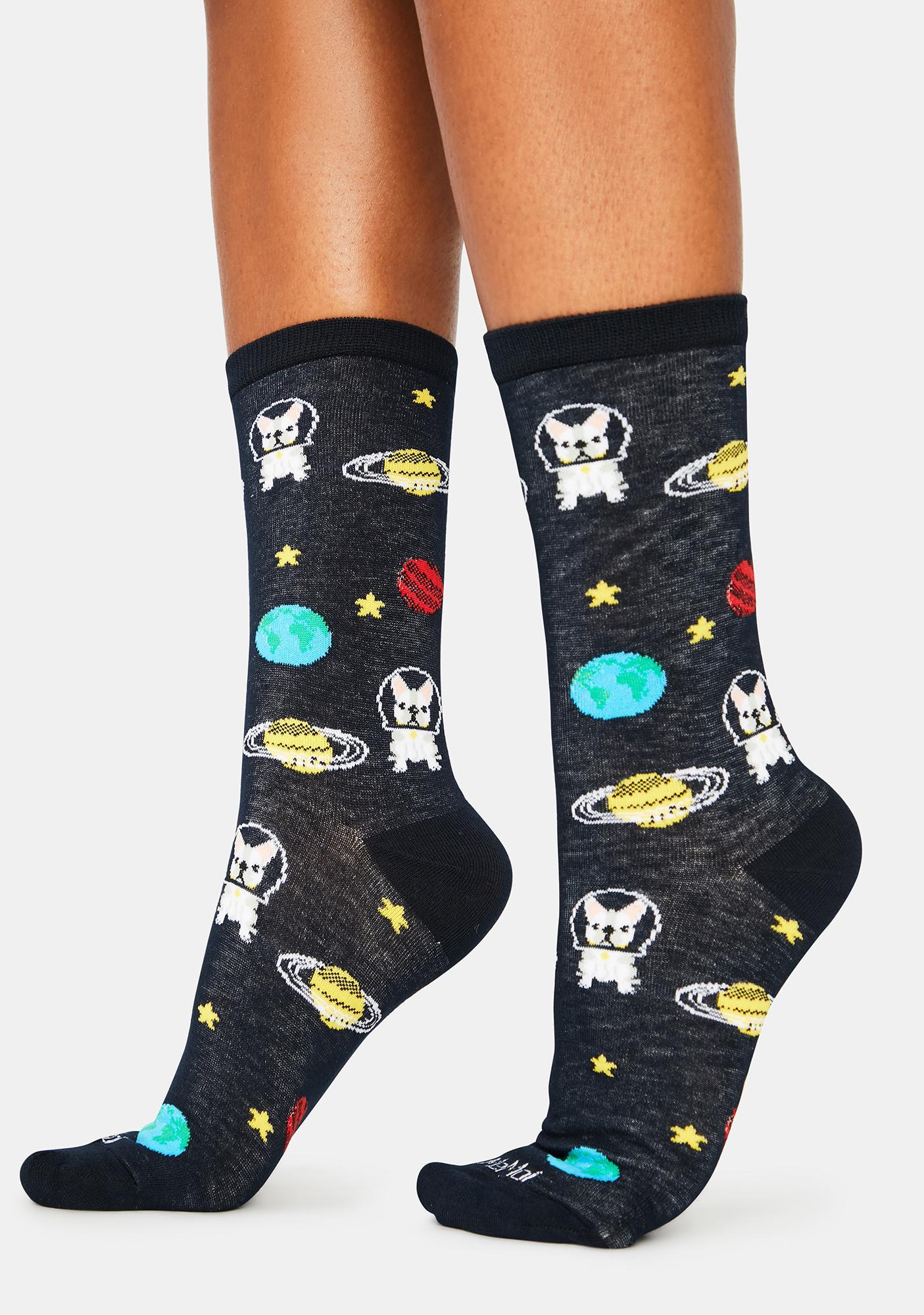 MeMoi In Space Crew Socks