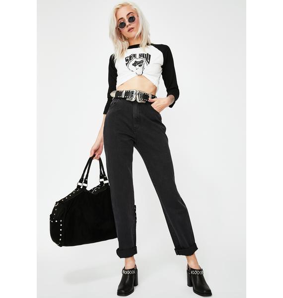 Rollas Black Steel Elle Jeans