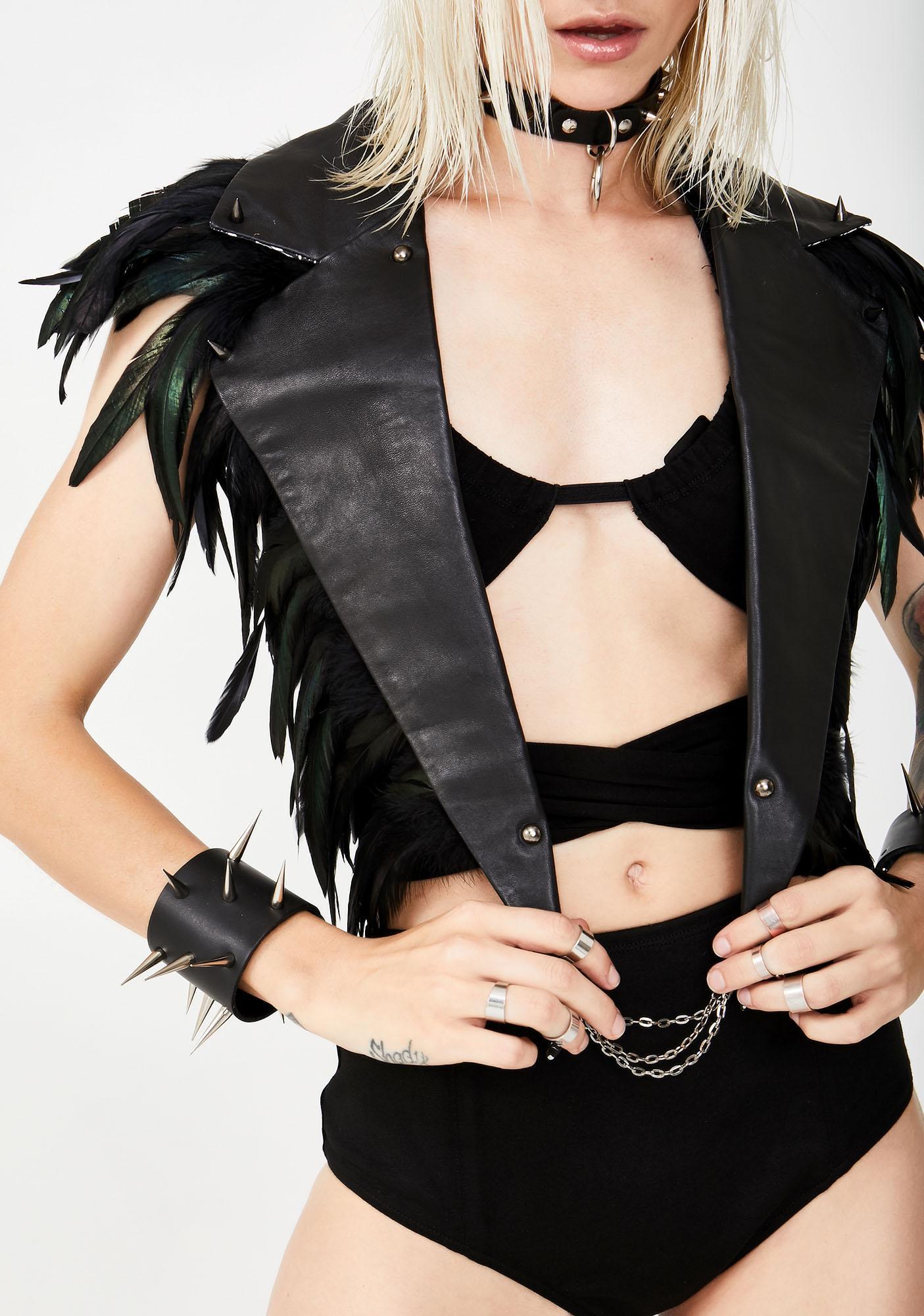 Love Khaos Leather Lapels