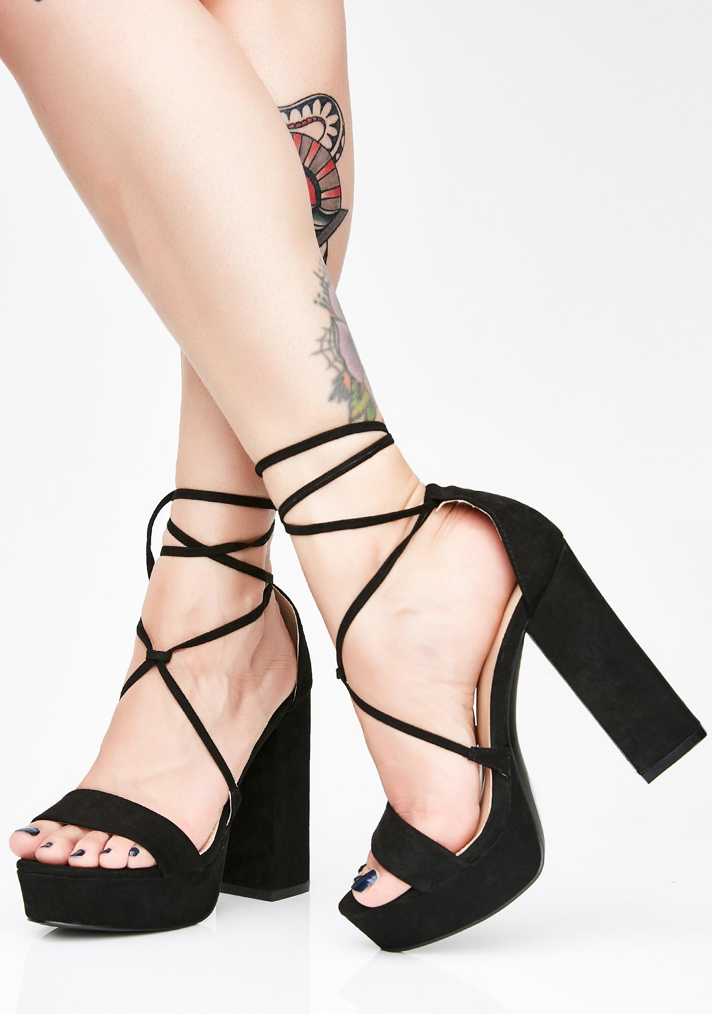 a8af3c1c580 Sinful Stella Lace Up Heels