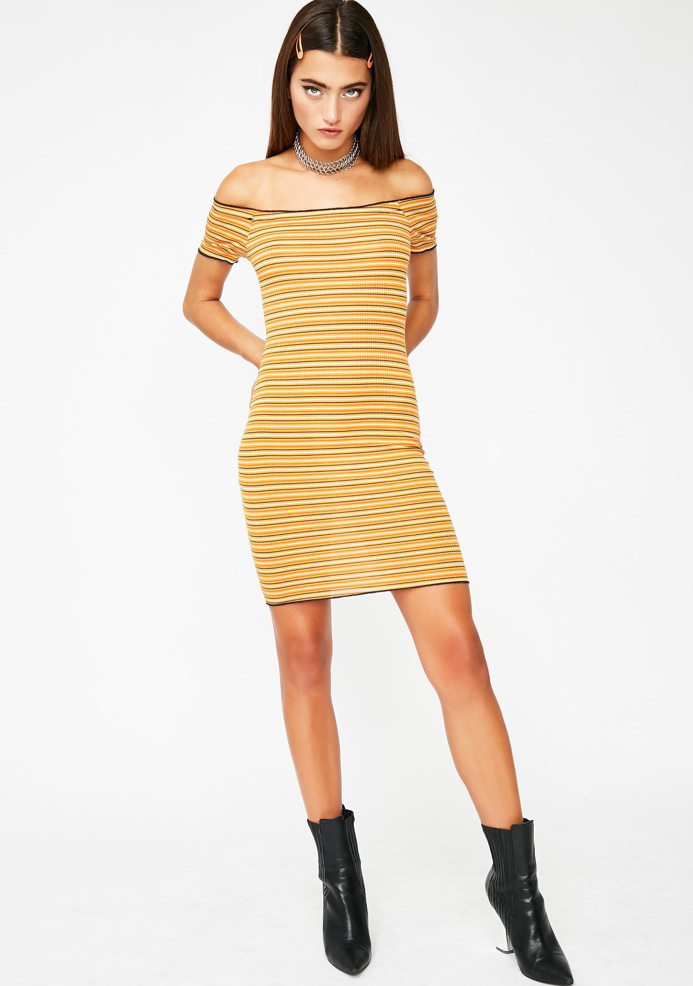 Too Flashy Striped Dress