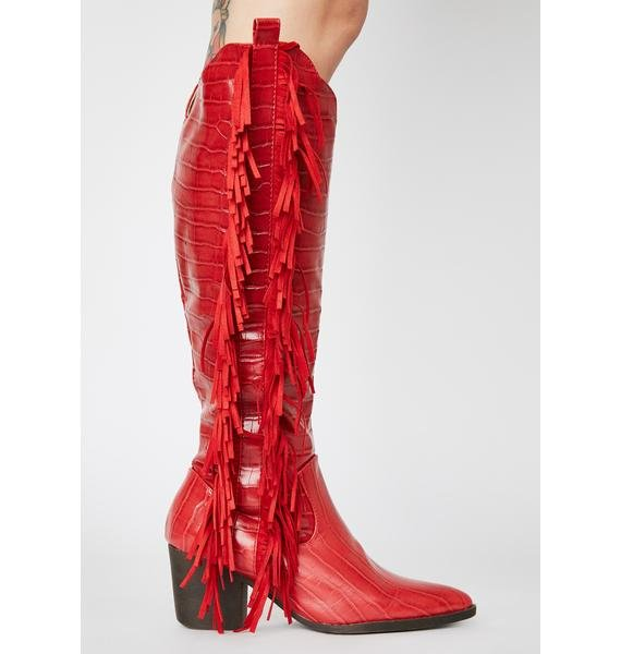 Rouge Stagecoach Stunner Cowboy Boots
