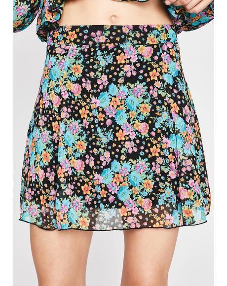 Fresh Like Flowers Mini Skirt