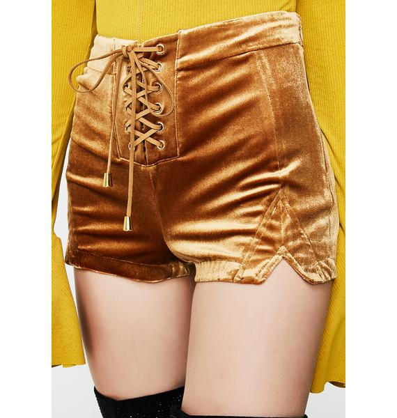 Groovy Nights Lace-Up Shorts