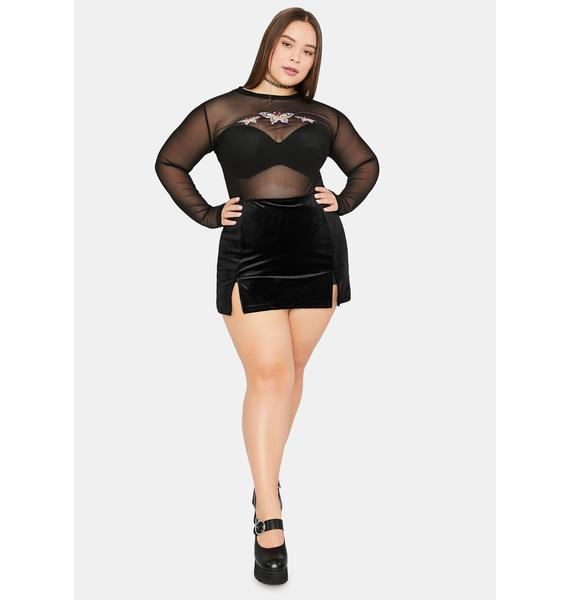 dELiA*s by Dolls Kill You're My Only Wish Mesh Top