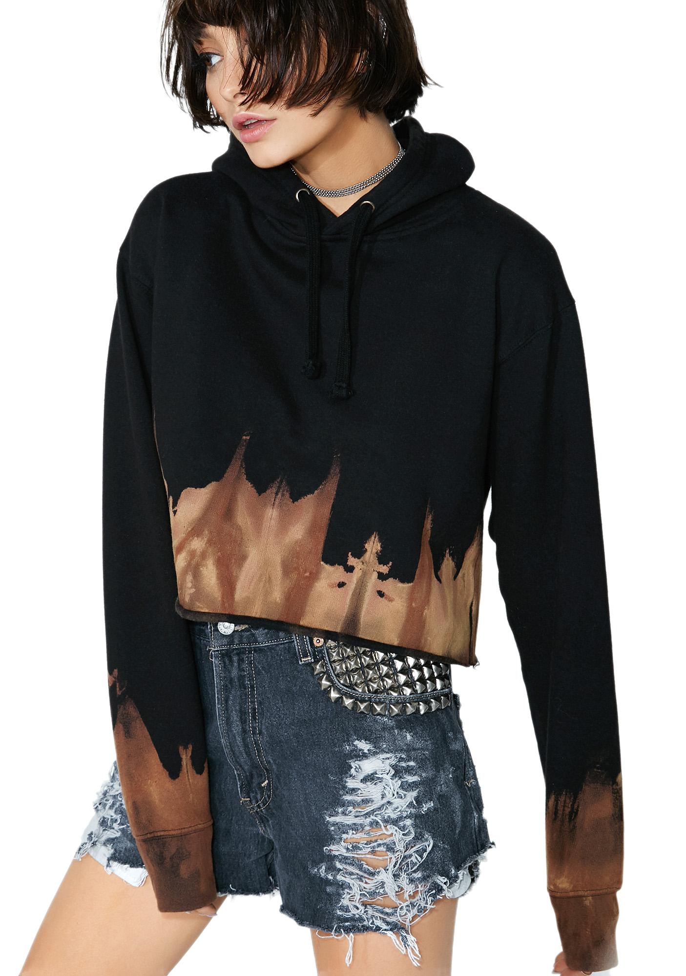 American Vintage Reworked Cropped Sweatshirt