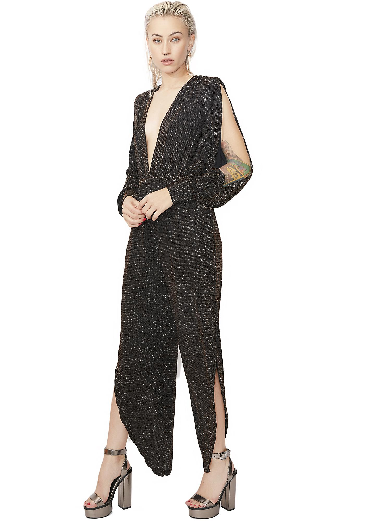 Ice Storm Shimmery Jumpsuit
