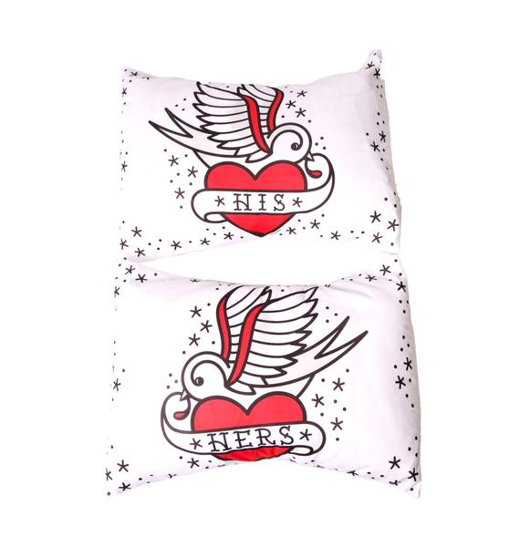 Sourpuss Clothing His and Hers Pillowcase Set