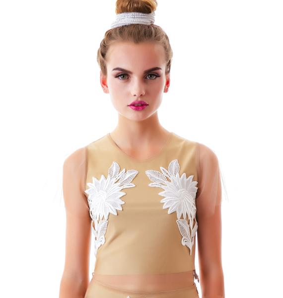 For Love & Lemons Balmy Nights Crop Top