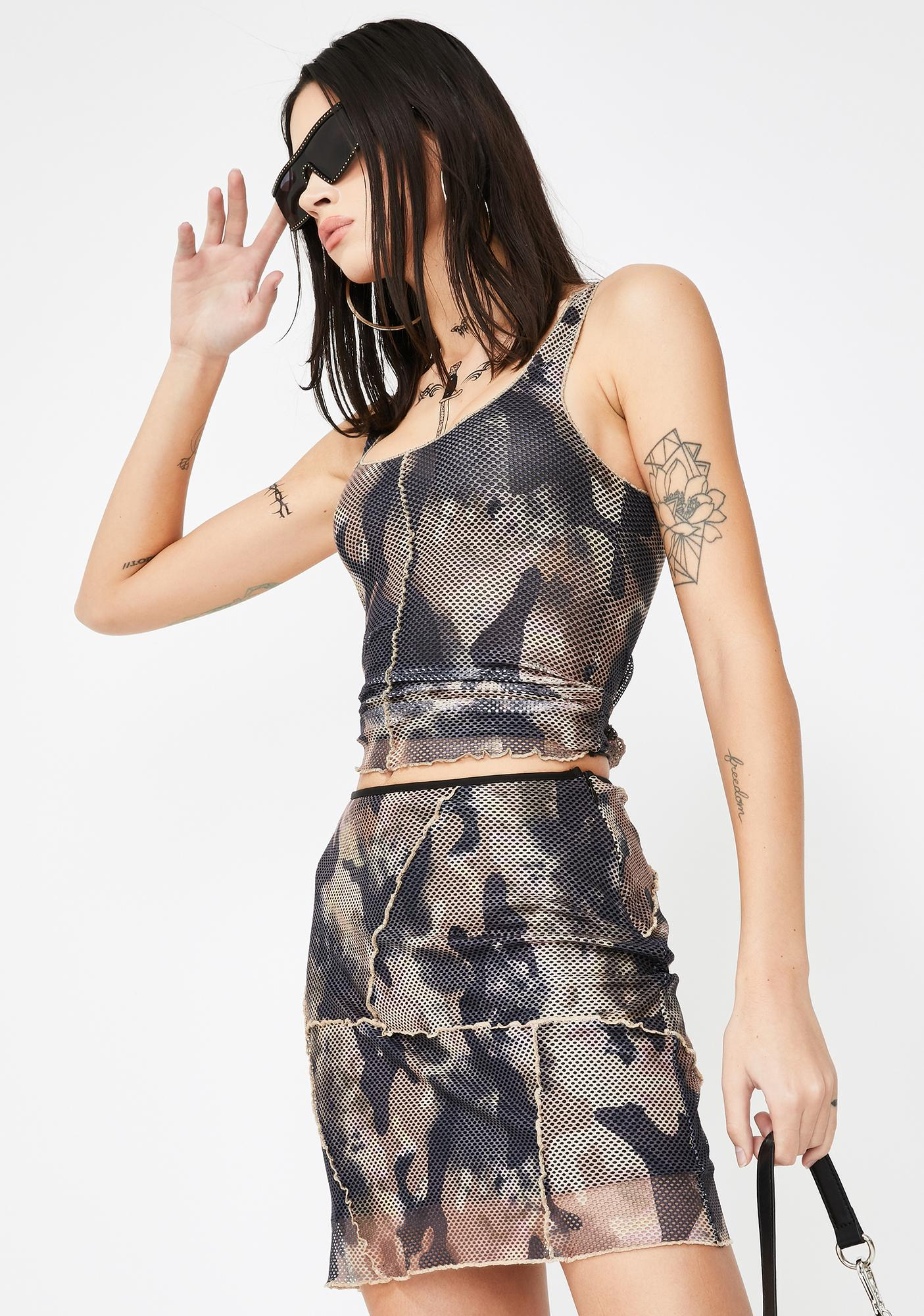 I AM GIA Elara Camo Tank Top