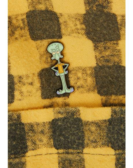 Squidward Enamel Pin
