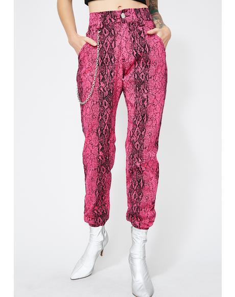 Sweet Mamba Mami Snakeskin Pants