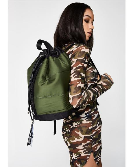 All Puffed Bomber Backpack