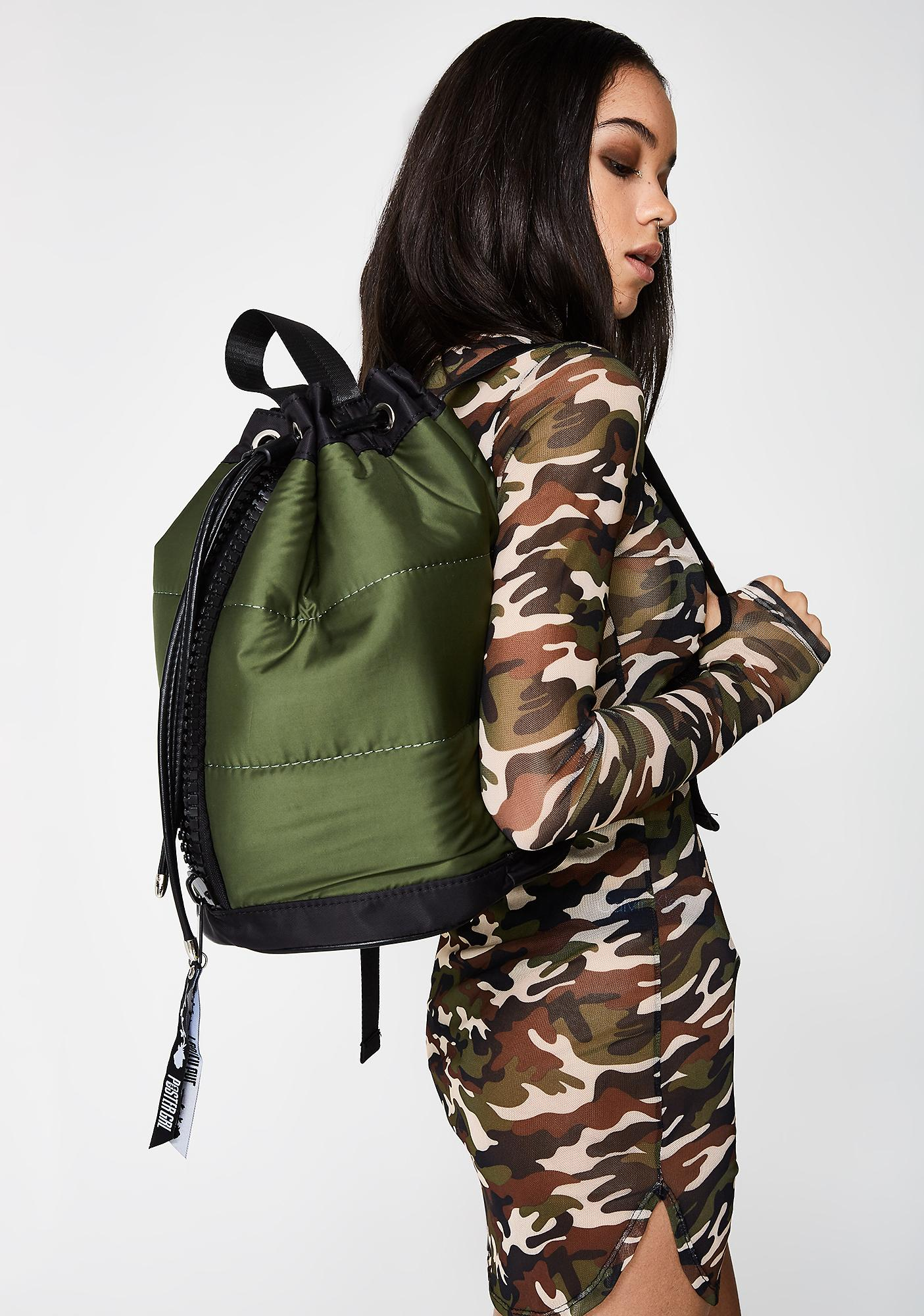 Poster Grl All Puffed Bomber Backpack
