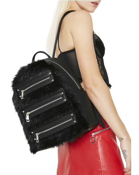 Faux Fur Realz Backpack