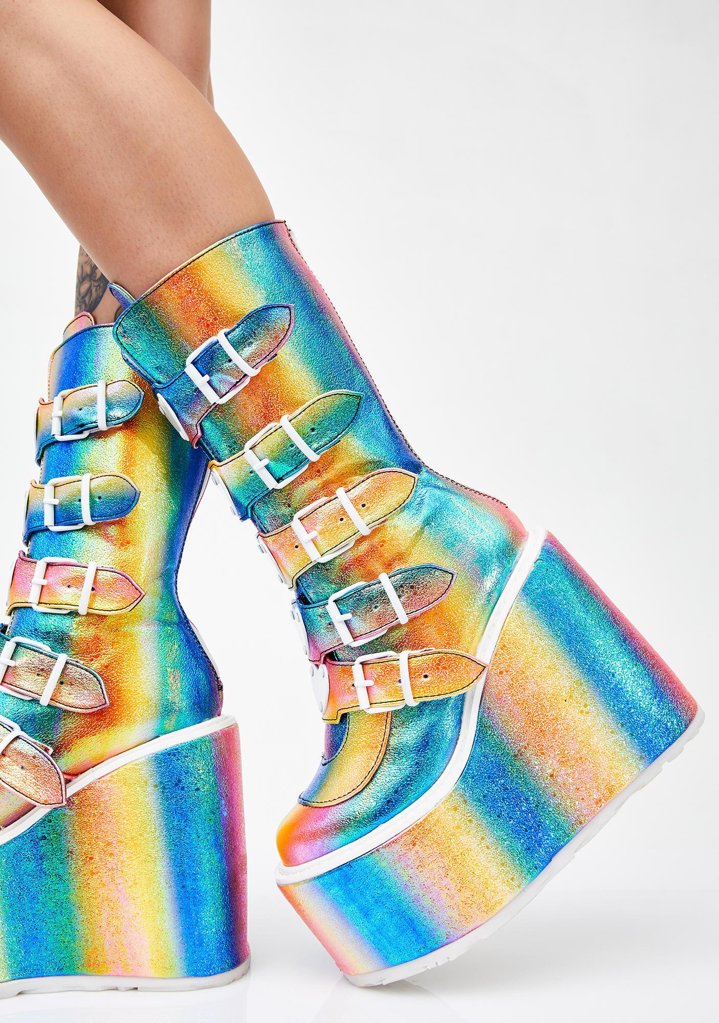 Demonia Freaky Lovesick Trinity Boots
