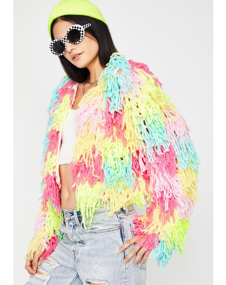 I Want Candy Fringe Cardigan