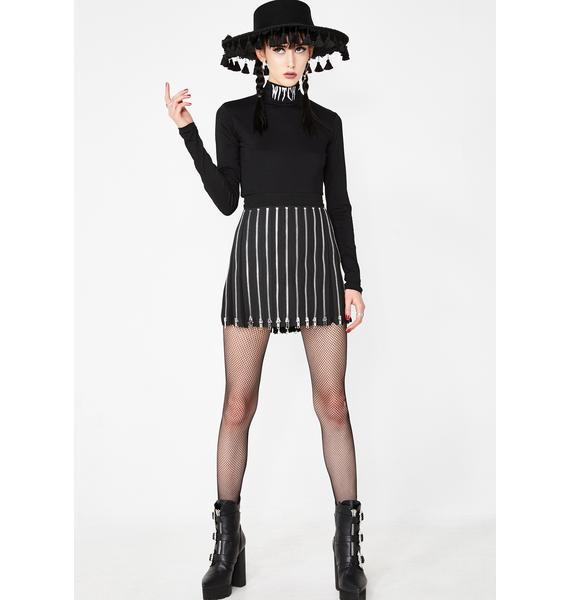 Dolls Kill Lil Witch Mock Neck Top