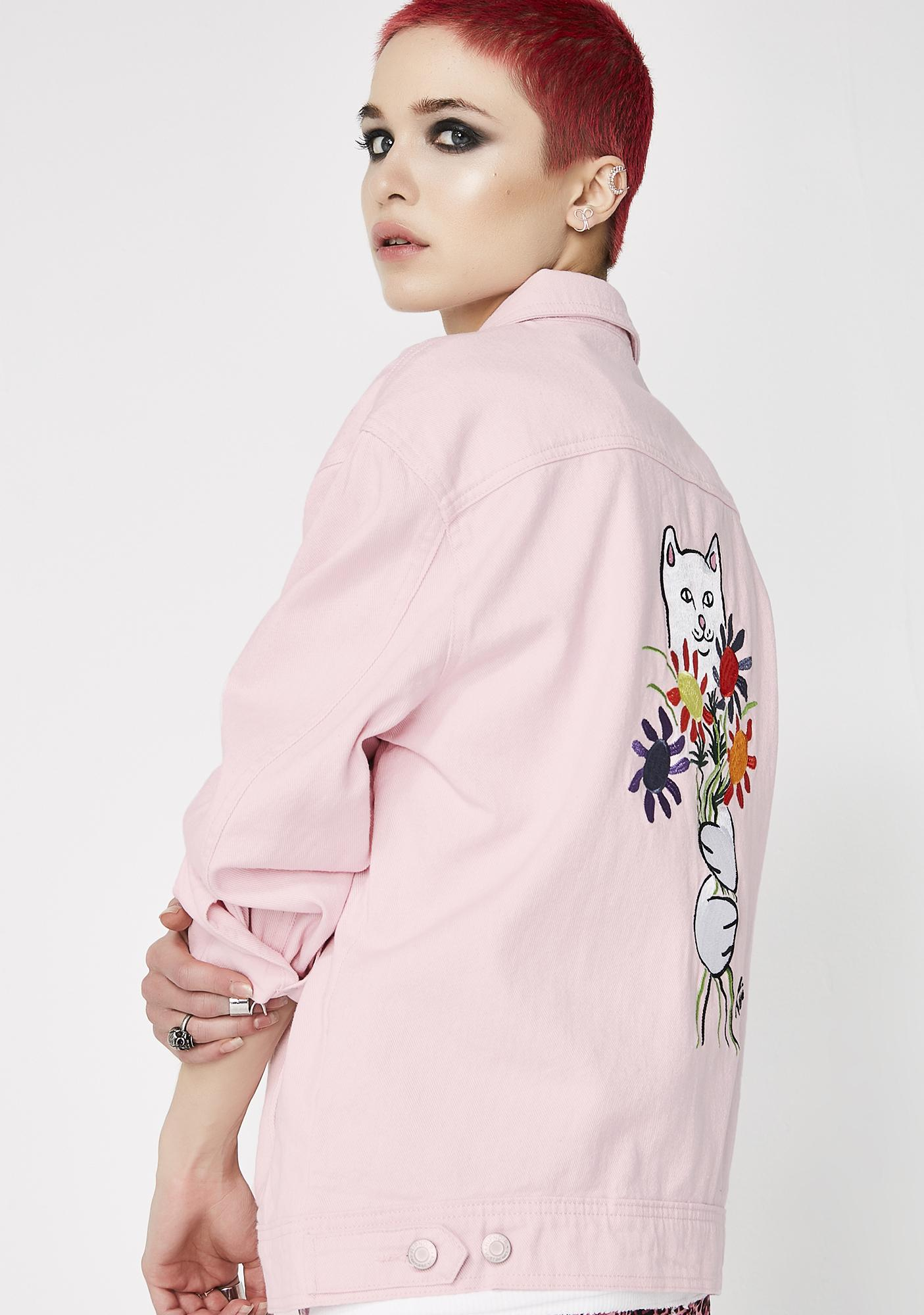 RIPNDIP Nermcasso Flower Denim Jacket