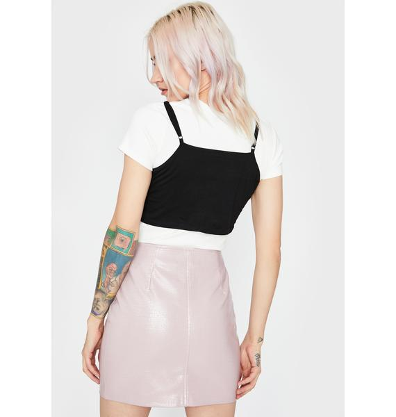 Blush Naughty Mischief Mini Skirt