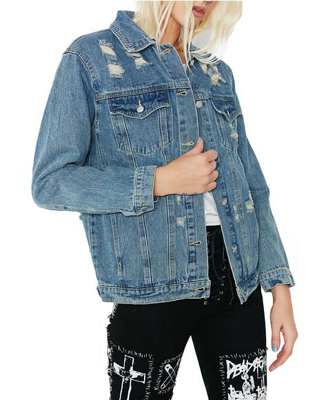 Furever Ironic Denim Jacket