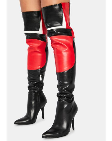 Blaze Thigh High Boots