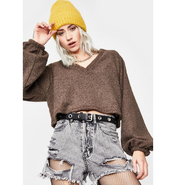 Reckless Pursuit Crop Sweater