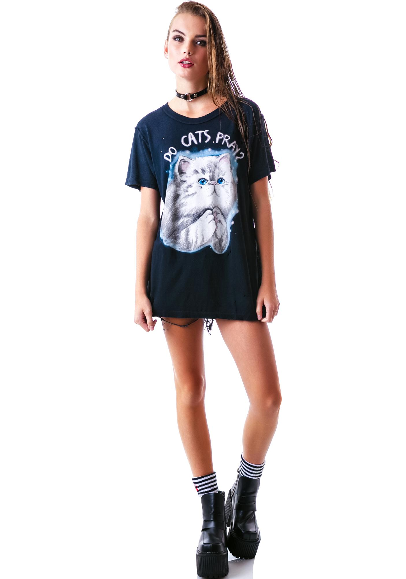 UNIF Do Cats Prey? Short Sleeves Tee