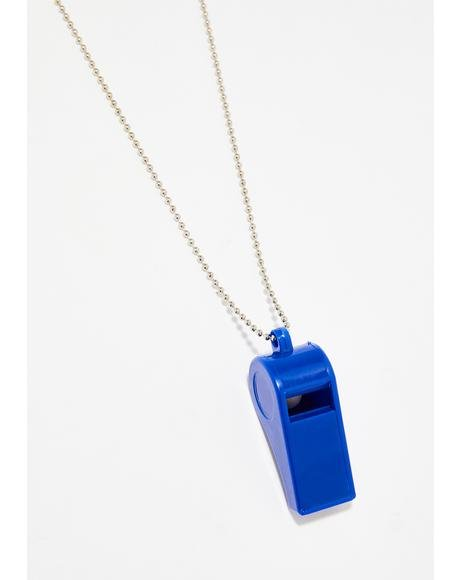 Berry Blow The Whistle Chain Necklace